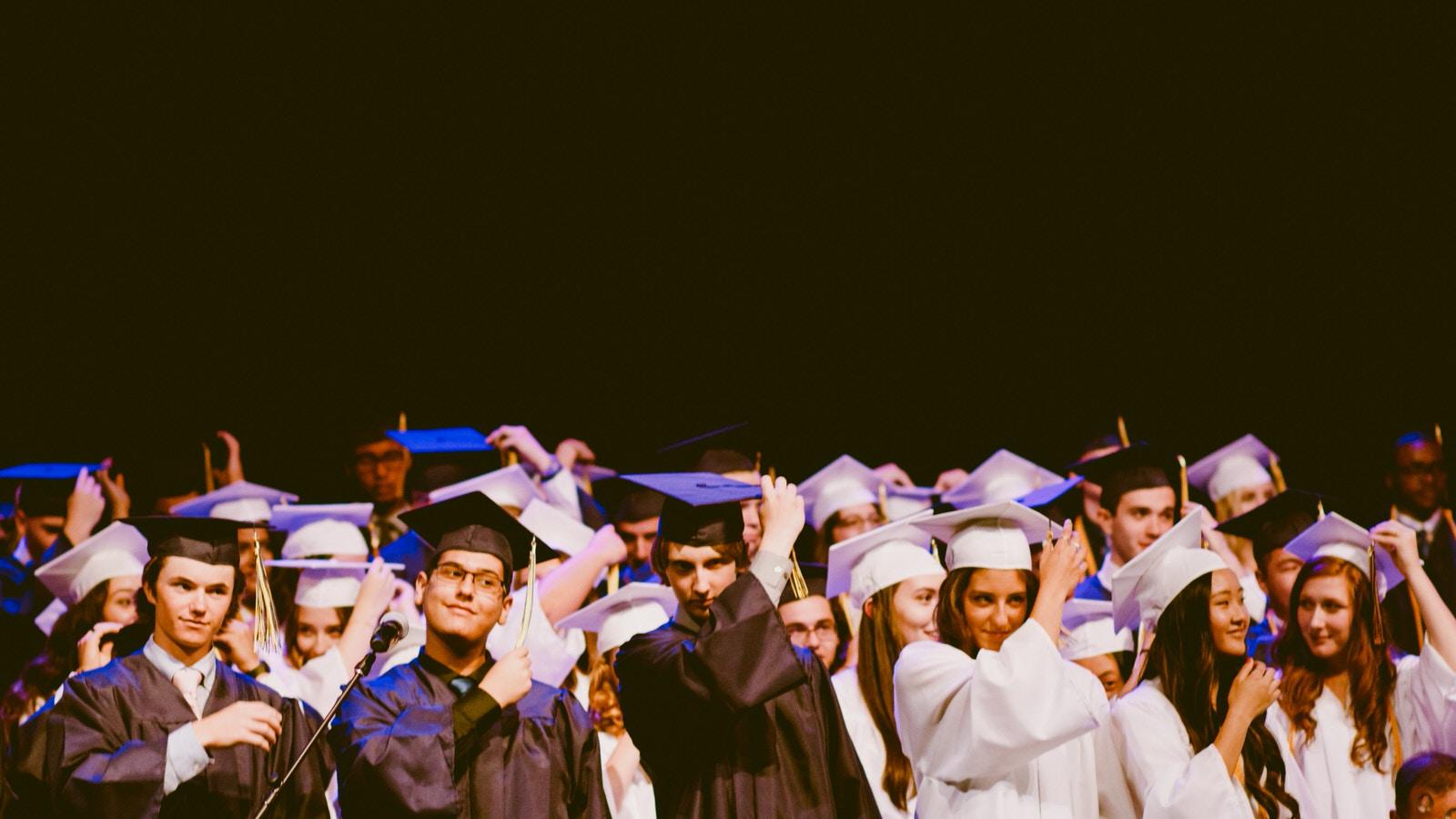 Graduation class photo