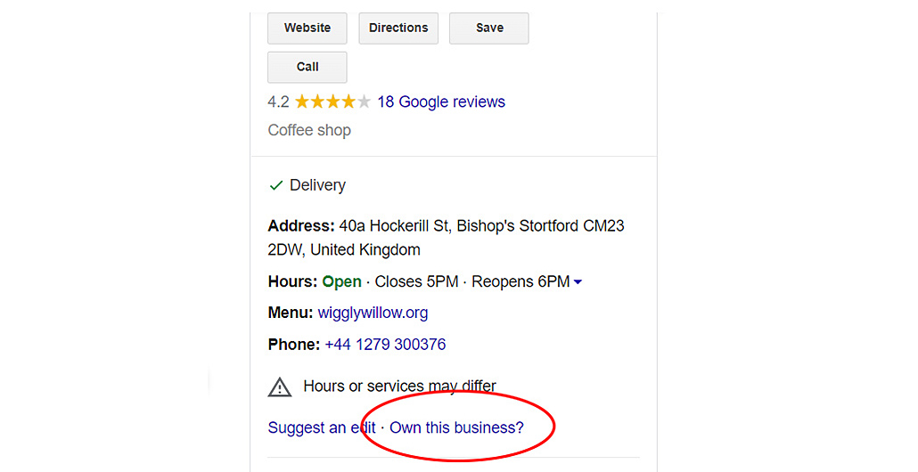 Google Listing Own This Business?