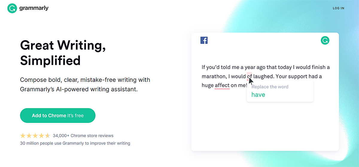 Screenshot showing the Grammarly text box where you can enter content to check for originality