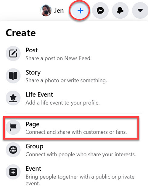Create a Facebook page steps to start marketing your writing business