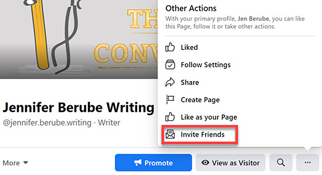 How to invite friends to like your Facebook page