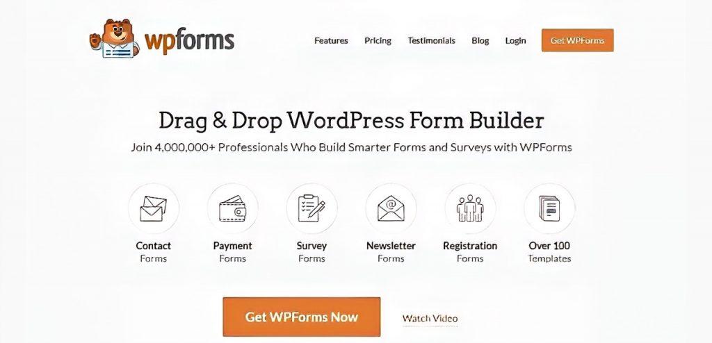 WPForms drag & drop WordPress Form Builder