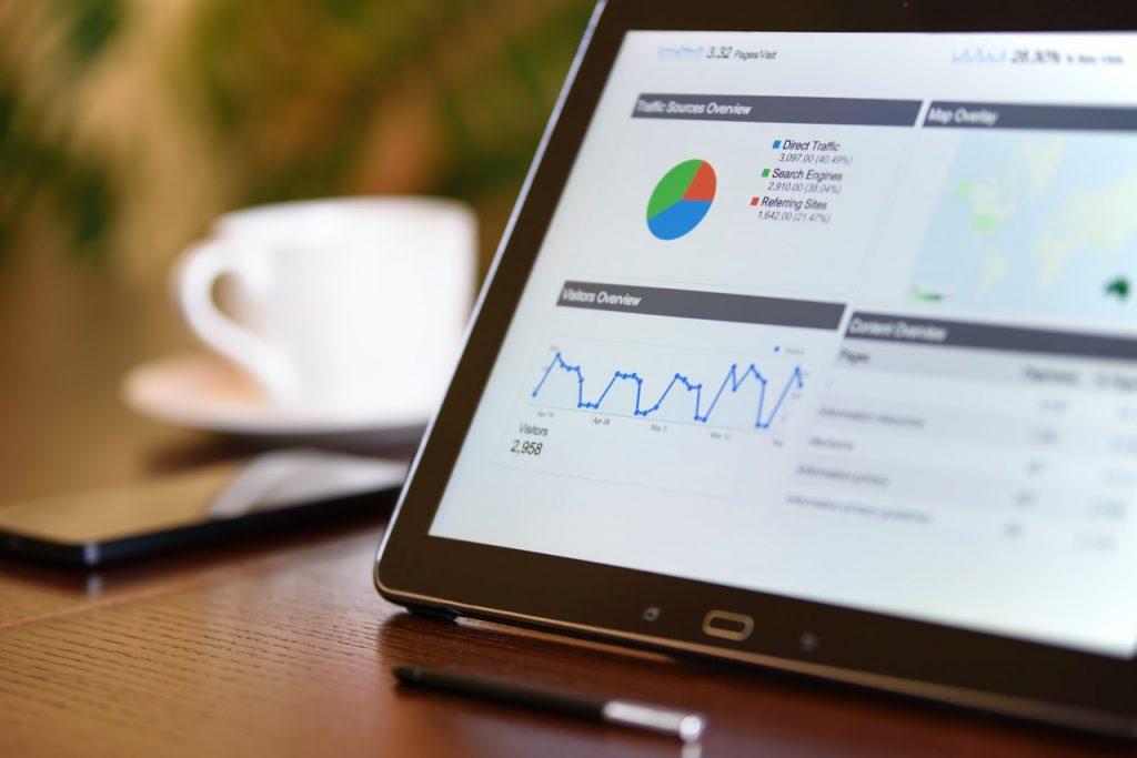 WordPress site vitals score in a black table screen